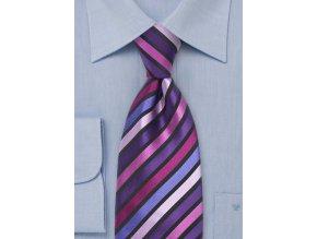 Kravata hedvábná fialová